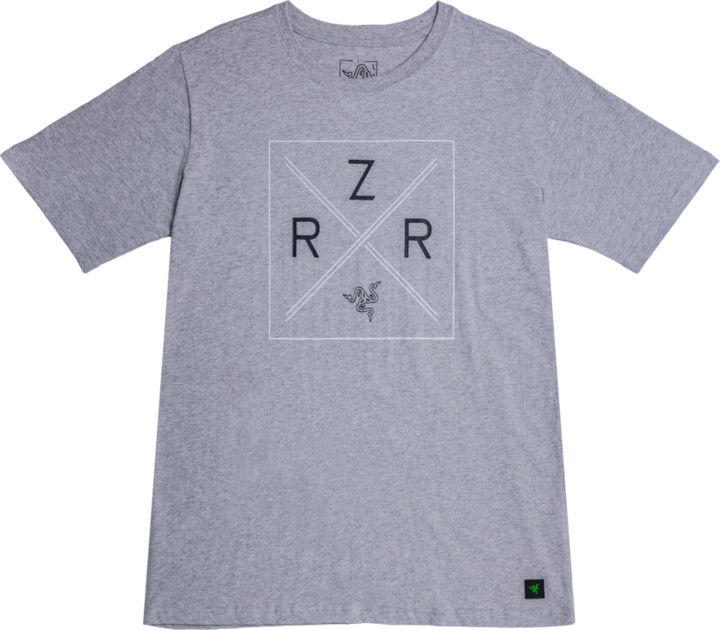 Tričko Razer Lifestyle Chroma Shield, šedé (L)