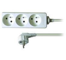Prodlužovací kabel 230V 3m - 3x zásuvka, bílý - PP03