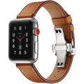 MAX kožený řemínek pro Apple Watch 4/5, 44mm, hnědá