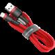 Baseus odolný nylonový kabel USB lightning 2.4A 1M, červená