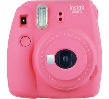 Fujifilm Instax MINI 9, růžová + Instax mini film 10ks