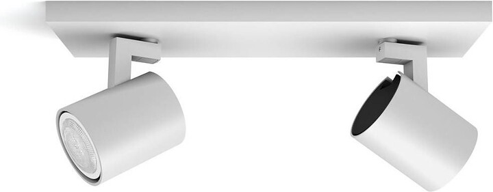 PHILIPS Runner Dvojité bodové svítidlo, Hue White ambiance, 230V, 2x5W GU10, bílá
