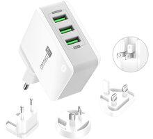 CONNECT IT nabíjecí adaptér Nomad2 WorldTravel, cestovní, 3xUSB, 24W, bílá - CWC-3310-WH