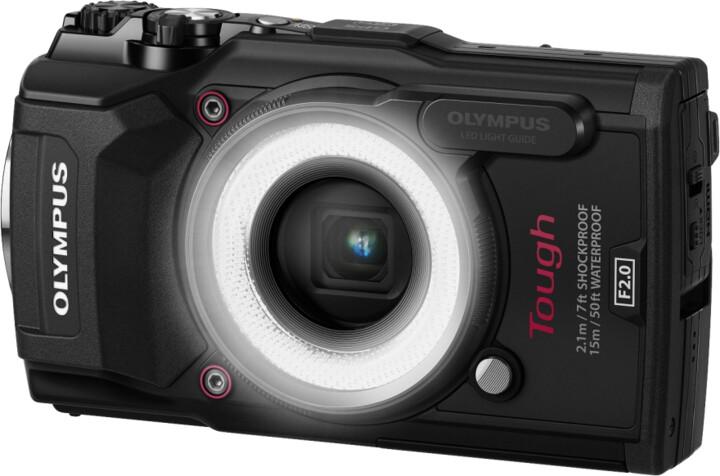 Olympus TG-5, černá + LG-1 LED Light Guide