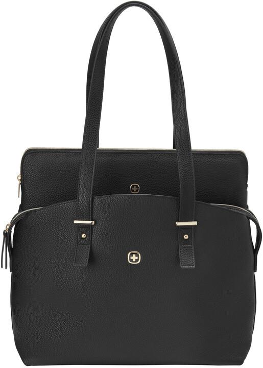 """WENGER ROSAELLI - 14"""" dámská kabelka na notebook s pouzdrem, černá/floral"""
