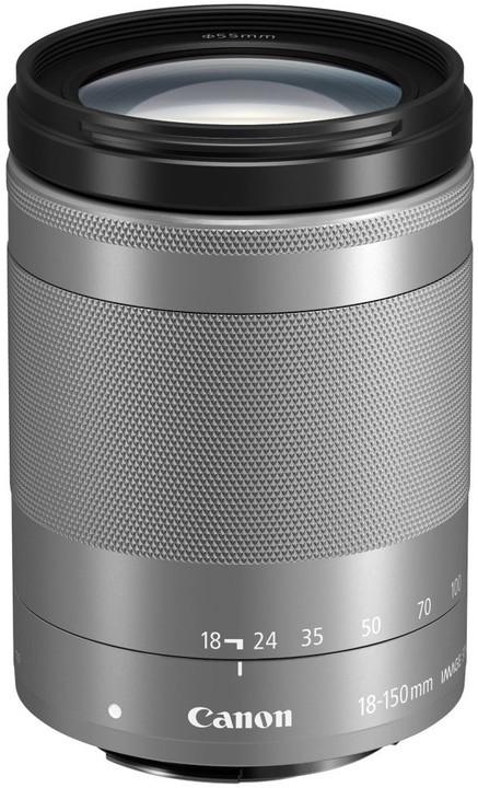 Canon EF-M 18-150mm f/3.5-6.3 IS STM, stříbrný