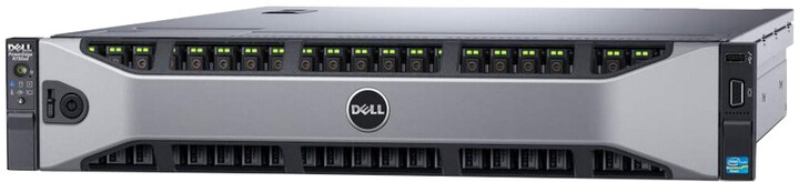 Dell PowerEdge R730xd /E5-2620v4/16GB/600GB + 2x 120GB SSD/2x750W/Bez OS