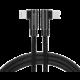 SWISSTEN datový kabel Arcade USB-C - Lightning, M/M, 3A, zahnutý konektor 90°, opletený, 1.2m, černá
