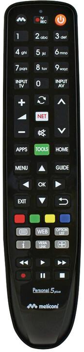 Meliconi univerzální dálkové ovládání GUMBODY PERSONAL 5 pro televize Panasonic