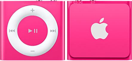 Apple iPod shuffle - 2GB, růžová, 4th gen.