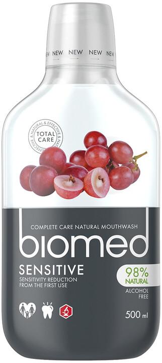 Ústní voda Biomed, hroznová jádra, sensitive, 500 ml