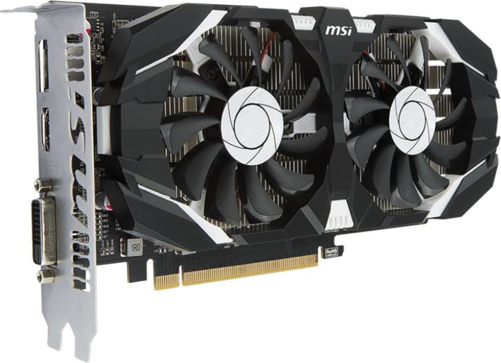 MSI GeForce GTX 1050 2GT OCV1, 2GB GDDR5