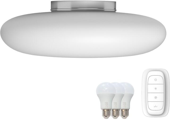 IMMAX NEO FUENTE stropní svítidlo bílé sklo 60cm včetně Smart zdroje 3xE27 RGBW