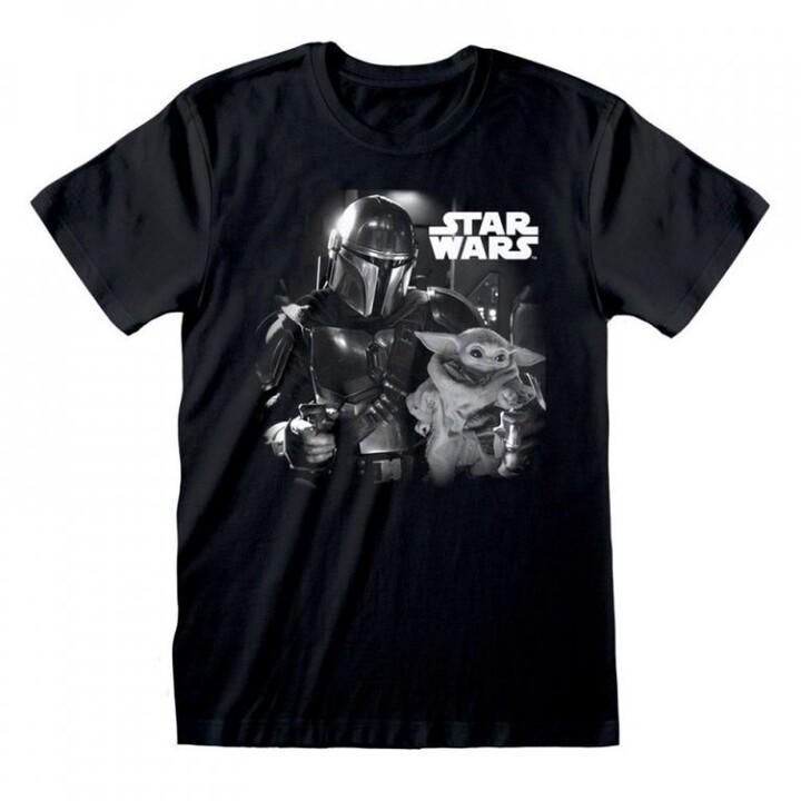 Tričko Star Wars: The Mandalorian - BW Photo (L)