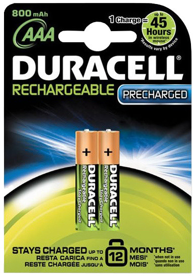 Duracell Stay Charge AAA - 800 mAh, 2ks