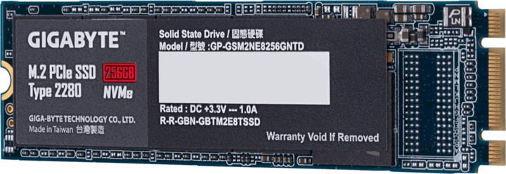 GIGABYTE SSD, M.2 - 256GB