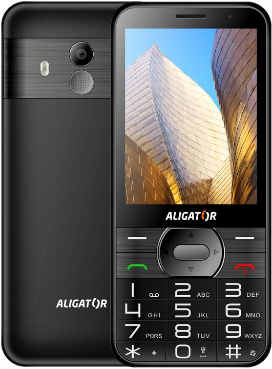 Aligator A900 Senior, černý + nabíjecí stojánek