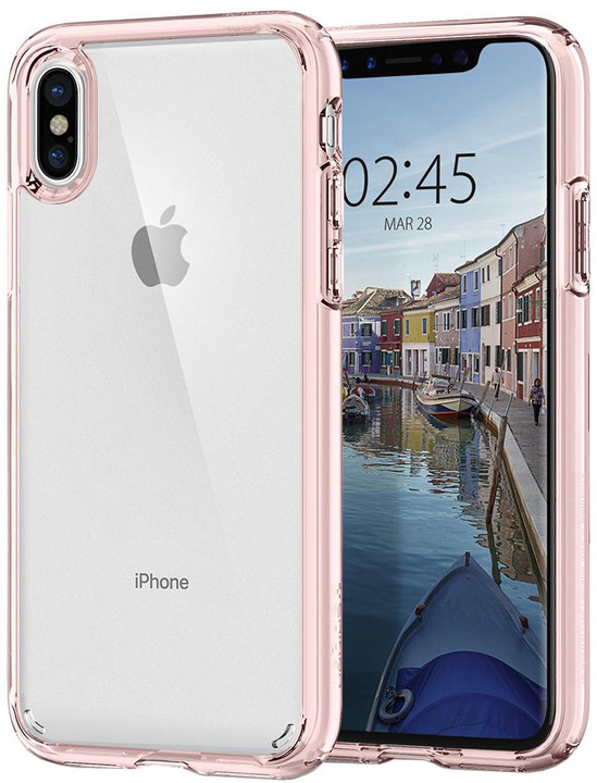 Spigen Ultra Hybrid iPhone X, rose crystal
