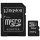 Kingston Micro SDHC 32GB Class 4 + SD adaptér