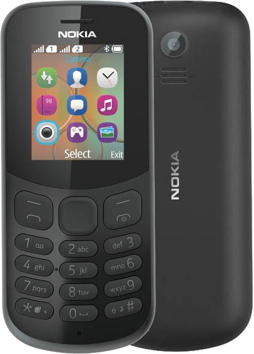 Nokia 130, Single Sim, černá