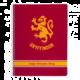 Zápisník Harry Potter - Gryffindor, čtverečkovaný, kroužková vazba, A4