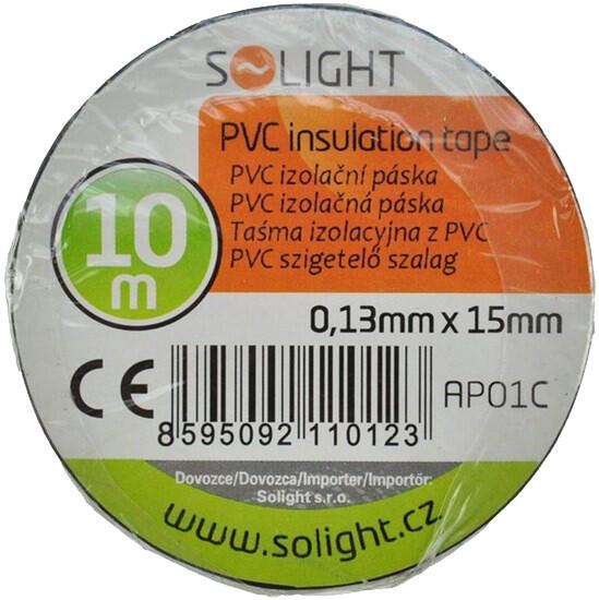 Solight izolační páska 15mm/10m, černá