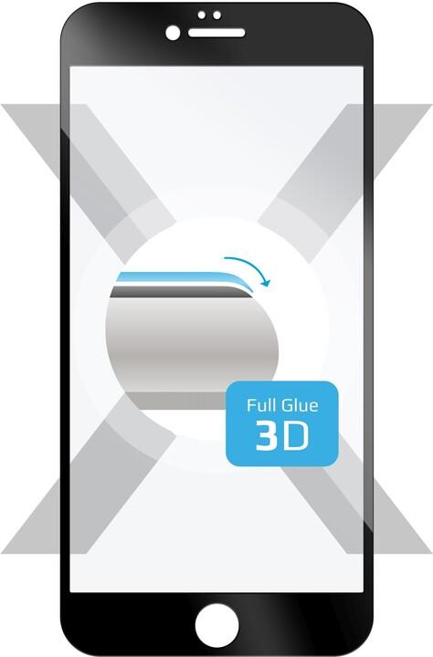 FIXED 3D Full-Cover ochranné tvrzené sklo pro Apple iPhone 6/6S, s lepením, černé