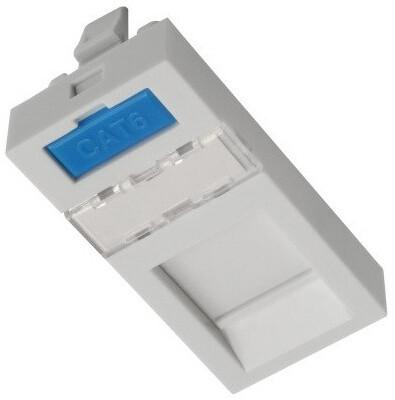 Solarix modul French style 22,5 x 45mm pro 1 keystone přímý bílý SXF-M-1-22,5-WH-P