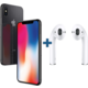 Apple iPhone X, 64GB, šedá  + Apple AirPods