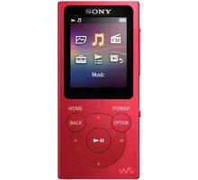 Sony NWZ-E393, 4GB, červená - NWE393R.CEW