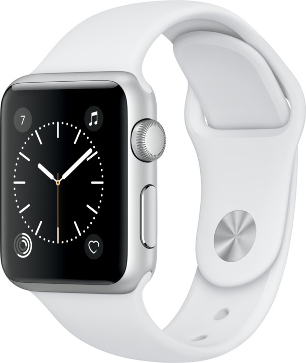 Apple Watch 38mm Silver Aluminium Case with White Sport Band