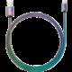 YENKEE YCU 651 nabíjecí kabel Lightning, MFi, nerezová ocel, 1m