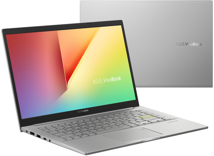 ASUS VivoBook 14 K413EA, stříbrná