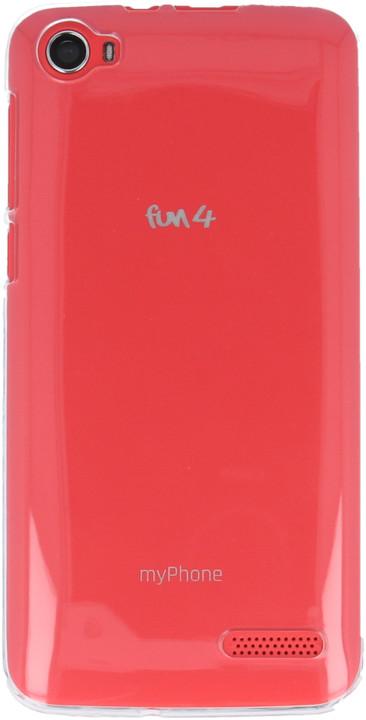 myPhone silikonové pouzdro pro Fun 4, transparentní bílá
