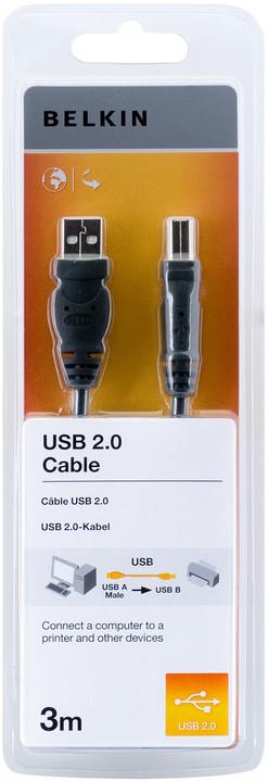 Belkin USB 2.0 kabel A-B, řada standard, 3 m