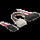 DeLock SAS 29-pin + napájení / 1x SATA 7-pin 50 cm