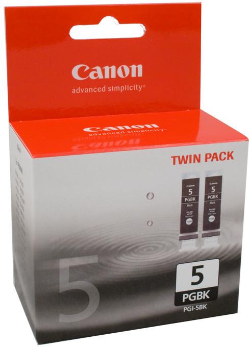 Canon PGI-5Bk, černá, Twin Pack