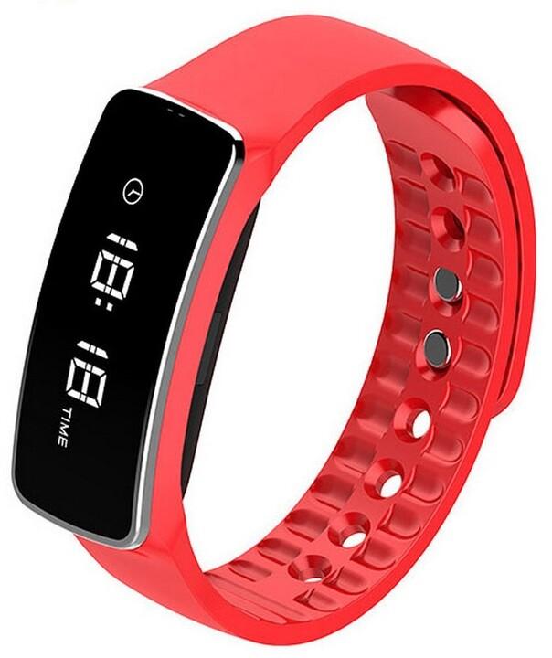 Cube 1 Smart band H18, červený