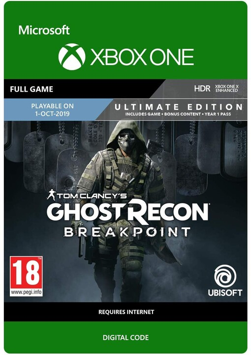 Tom Clancy's Ghost Recon: Breakpoint: Ultimate Edition (Xbox ONE) - elektronicky