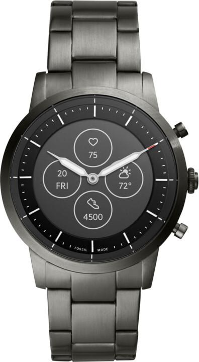 Fossil FTW7009 Hybrid Watch, M Smoke Steel