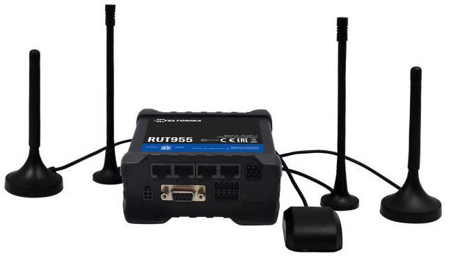 Teltonika LTE RUT955 Wi-Fi - 2xSIM, 3xLAN + 1xLAN/WAN, GP, USB, RS232