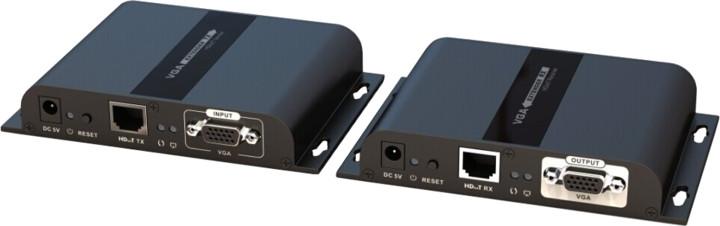PremiumCord VGA extender na 120m přes LAN, over IP, HDBitT