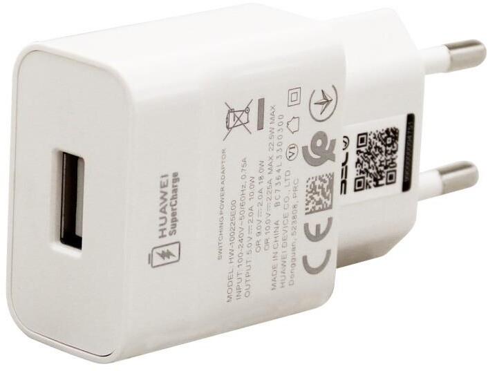 Huawei síťová nabíječka SuperCharge CP404B, 22.5W, bílá