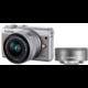 Canon EOS M100 + EF-M 15-45mm IS STM + EF-M 22mm STM, šedá  + Získejte zpět 750 Kč po registraci