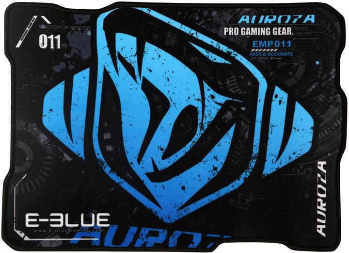 E-Blue Auroza, M, herní, látková, černo-modrá