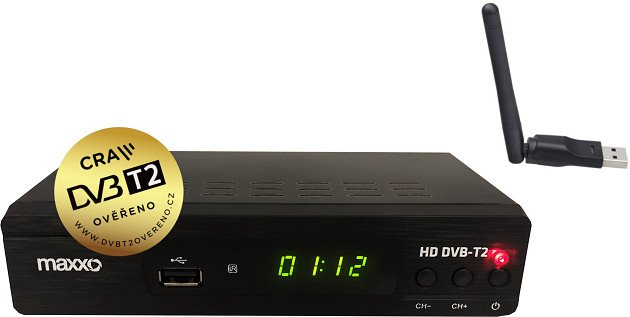 Maxxo T2 H.265 + wifi adaptér, DVB-T2