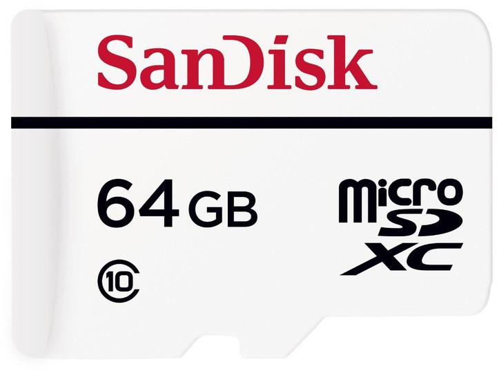 SanDisk Micro SDXC High Endurance 64GB 20MB/s + SD adaptér