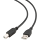 Gembird CABLEXPERT kabel USB A-B 1,8m 2.0 HQ zlacené kontakty, černá