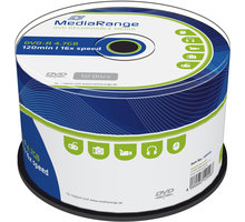 MediaRange DVD-R 4,7GB 16x, Spindle 50ks - MR444
