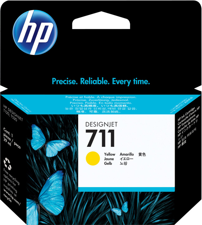 HP CZ132A náplň č.711, žlutá